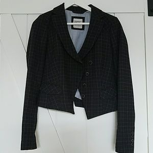 Esprit wool plaid assymetrical jacket